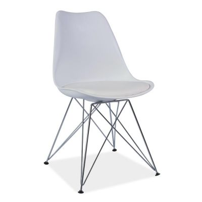 Scaun retro Flam White