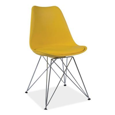 Scaun retro Flam Yellow